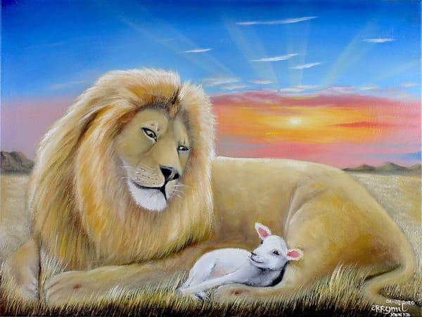 The Lion And The Lamb 1 Art | errymilart