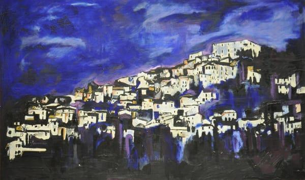 Navelli At Night Art | Mina Vancardo