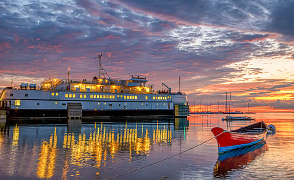 Steamship Morning Reflection Art | Michael Blanchard Inspirational Photography - Crossroads Gallery