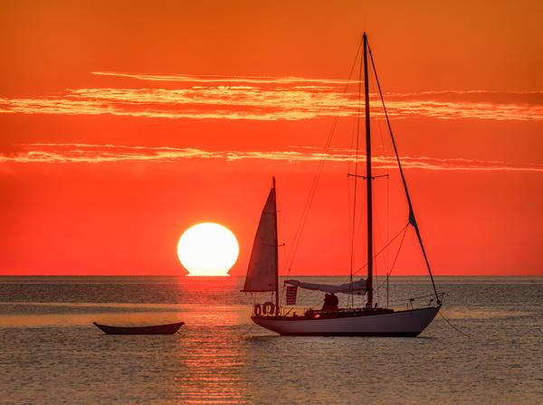 Sailboat Sunrise State Beach Art | Michael Blanchard Inspirational Photography - Crossroads Gallery