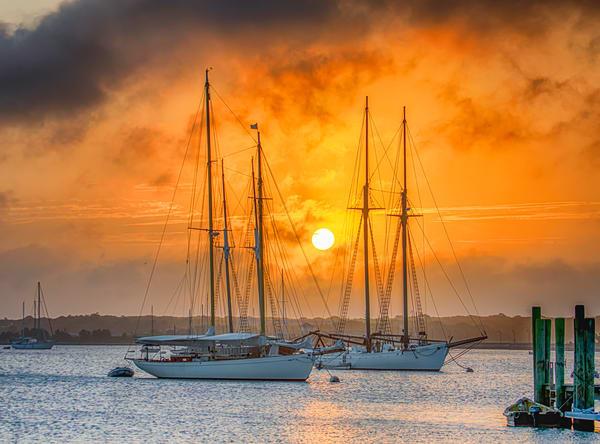 Vineyard Haven Harbor Fog Sunrise Art | Michael Blanchard Inspirational Photography - Crossroads Gallery