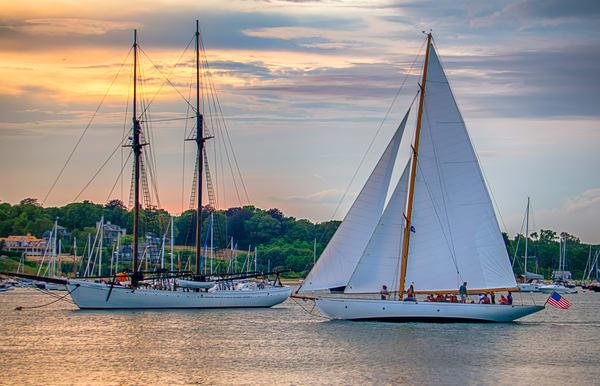 Vineyard Haven Inner Harbor Sail Art | Michael Blanchard Inspirational Photography - Crossroads Gallery