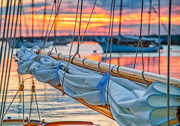 Vineyard Haven Harbor Sail Sunrise Art | Michael Blanchard Inspirational Photography - Crossroads Gallery