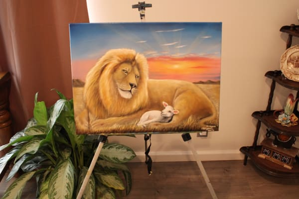 The Lion And The Lamb Art   errymilart