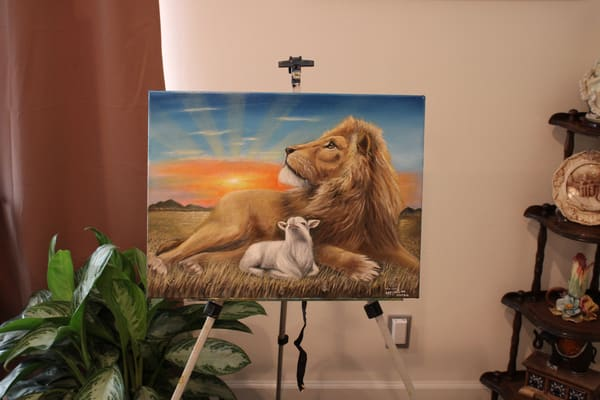 The Lion And The Lamb 2 Art   errymilart