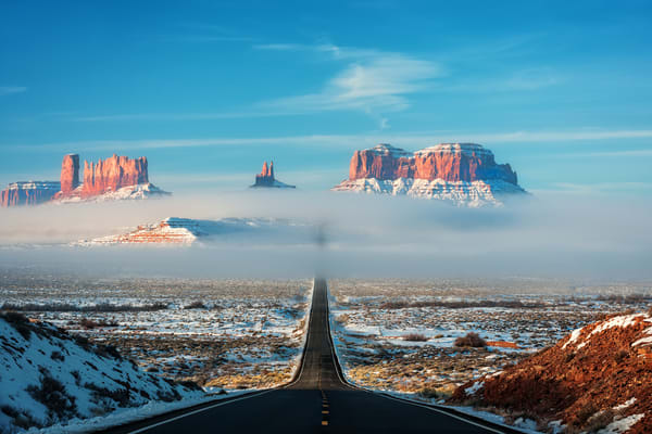 Highway Through The Clouds Photography Art | Ken Smith Gallery