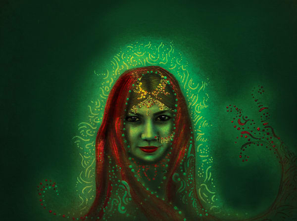India Emerald  Art | Angelica Hoyos Studio