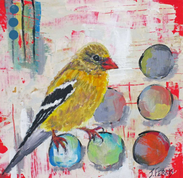 """Print of original by Jennifer Ferris """"Color Inspired Goldfinch"""""""