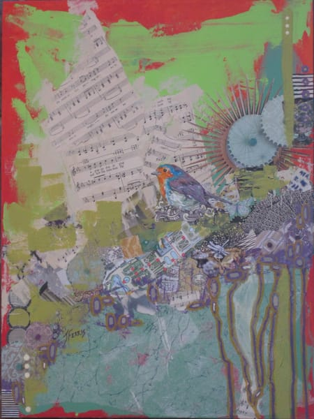 """Print Of """"And How The Time Does Fly"""" Art   Jennifer Ferris"""