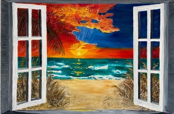 Paradise Through The Window/Custom Available Art | Coat Of Many Colors