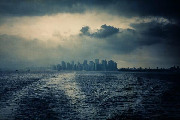 skyline, clouds, stormy, manhattan, New-York-City