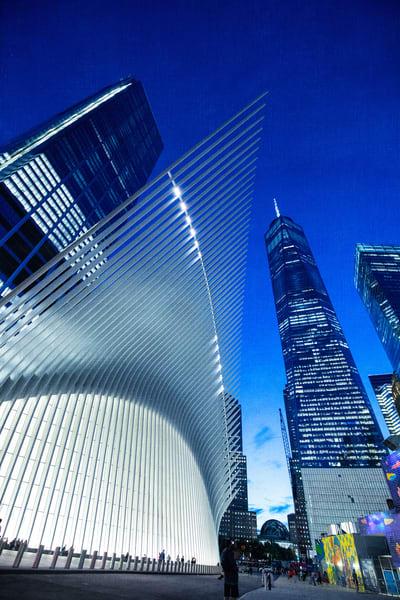 New York, NYC, Oculus, blue