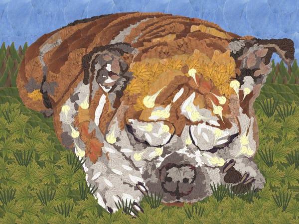 Bulldog Laying Down Art | smacartist