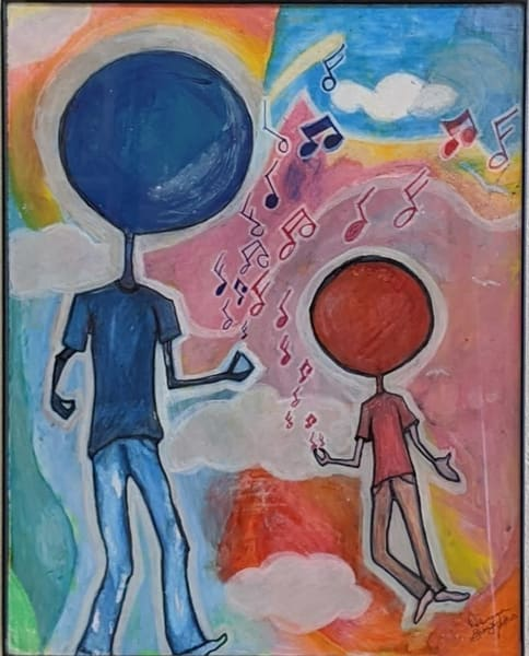 Deanna Gray Mathis - original artwork - African American - children - music - Lifted by the Beat