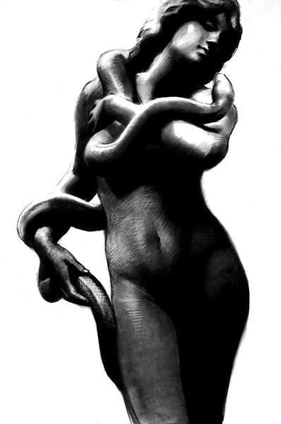Salammbo (Original) Art   Adam Benet Shaw Studios