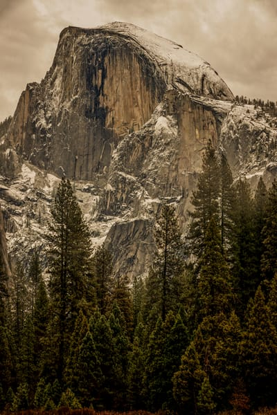 Storm Approaches Over Half Dome Photography Art | Ken Smith Gallery