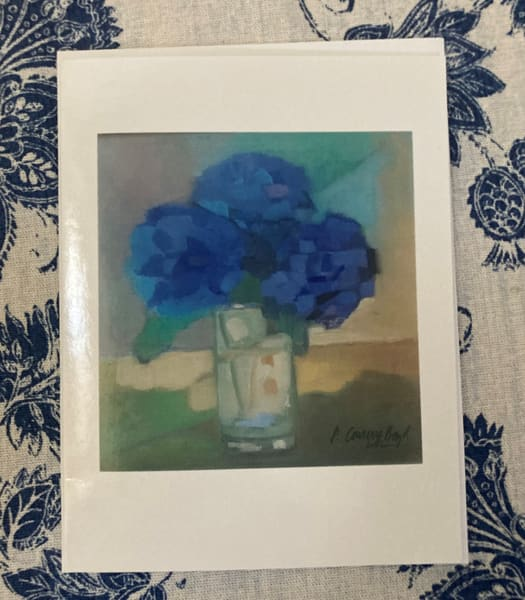 Notecards Package Of 4 Hydrangeas In The Light | Peg Connery-Boyd Artwork