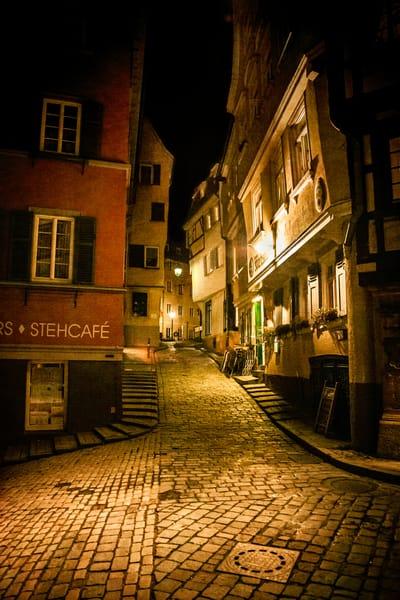 Tübingen, Germany, night scene, city scene