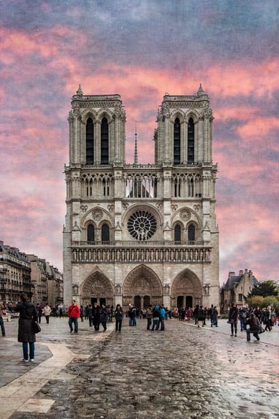 Notre Dame, Paris, France, Architecture, cityscape