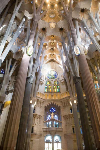 La Sagrada Familia, Barcelona, Spain, architecture