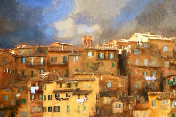 San Gimignano, Italy, digital painting
