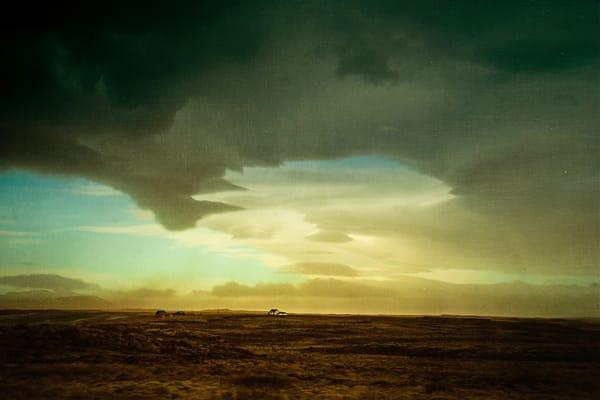 landscape, Iceland, clouds