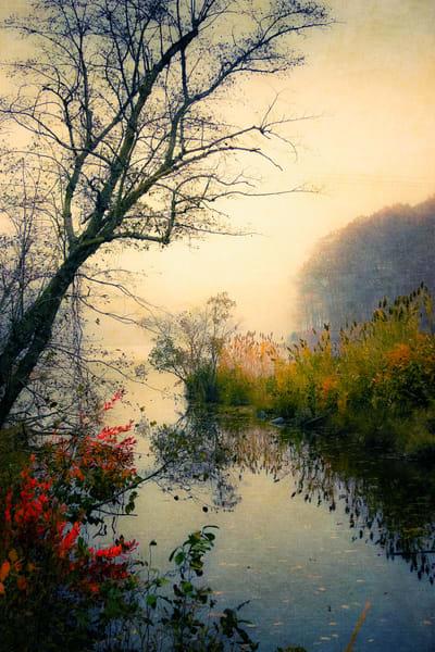 landscape, lake, autumn, fall,