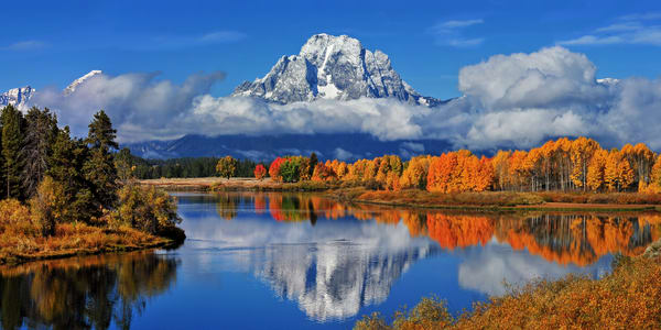 Oxbow Bend Semi Panorama Photography Art | Ken Smith Gallery