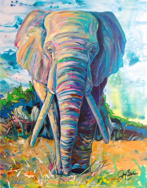 Elephant Journey Art | jenartworkgallery