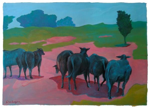 Cattle On A Hill Art   Scheihagen Art