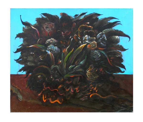 Dark Floral Art   Scheihagen Art