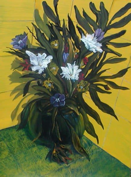 Floral On Yellow Art   Scheihagen Art