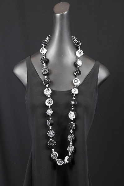 Black & White Fabric Rollups Art | Martsolf Lively Contemporary