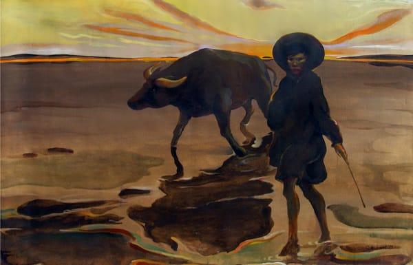 Vietnam Boy With Buffalo Art | Scheihagen Art