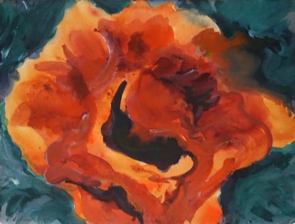 orange poppy acrylic lila irving