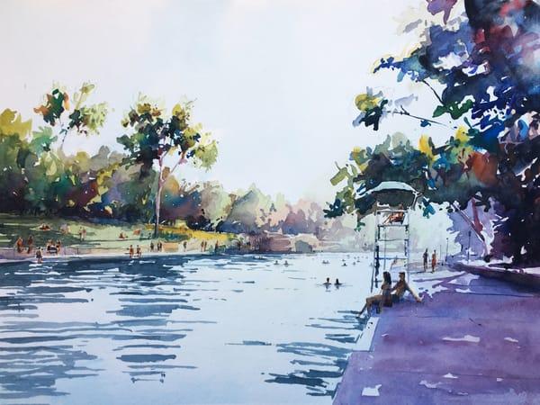 Austin   Barton Springs 1 Art | Steven Dragan Fine Art