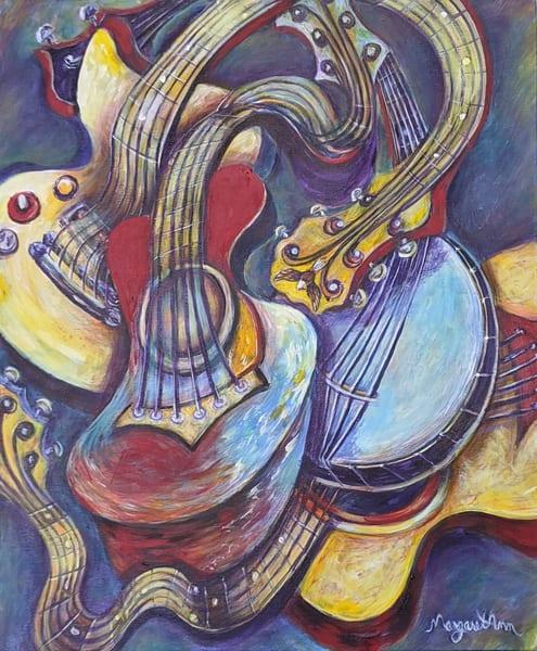 Margaret Ann Lambert - surrealism - music art - Twisted Strings