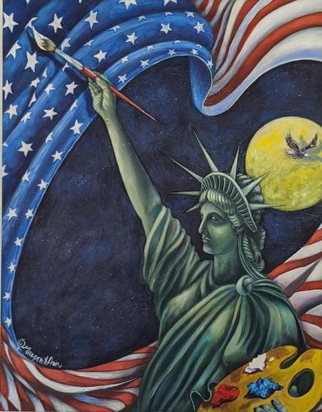 Margaret Ann Lambert - original artwork - Statue of Liberty - Star Spangled Palette