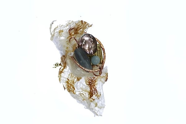 Mulberry Bark & Coin Pearl Art | Martsolf Lively Contemporary