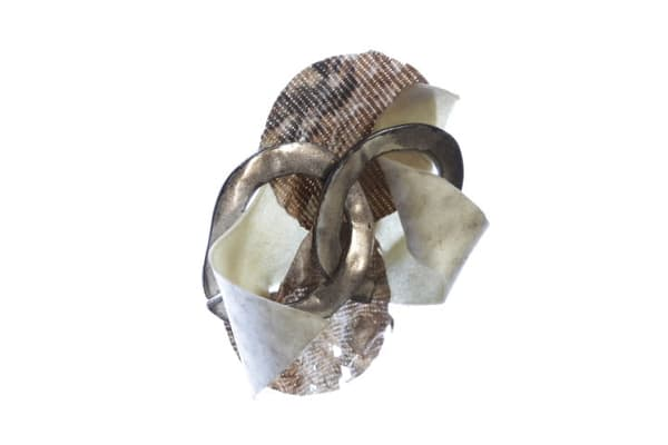 Rawhide, Tyvek & Silver Pin Art | Martsolf Lively Contemporary