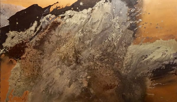 Textured Wave acrylic canvas lila lewis irving