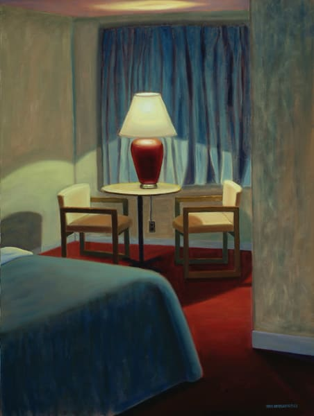 Motel Meeting, Night Art | The Art of David Arsenault