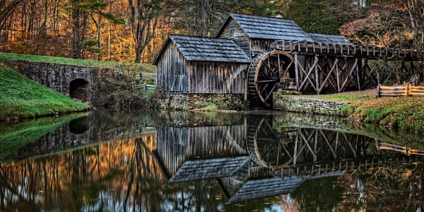 Fall Colored Mill Photography Art | Ken Smith Gallery