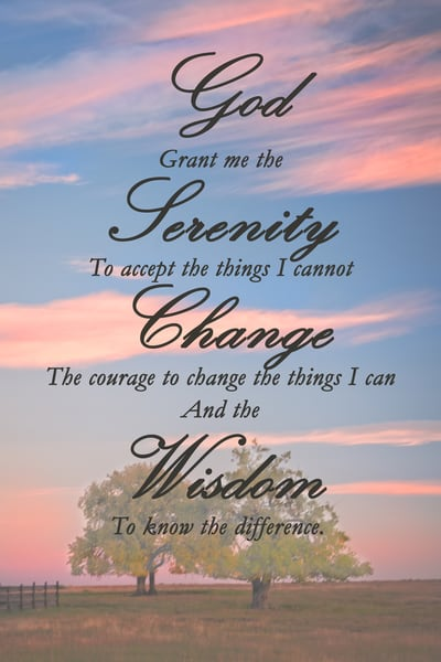 Serenity Prayer Photography Art | Ken Smith Gallery