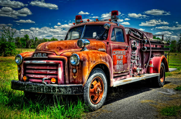 Cherokee Township Fire Truck Photography Art | Ken Smith Gallery
