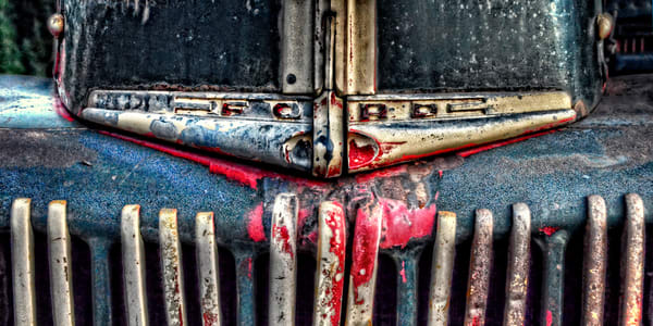 Ford Dump Truck Grille Pan Photography Art | Ken Smith Gallery