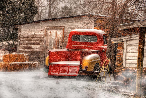 Ford Pickup In Snow Photography Art | Ken Smith Gallery