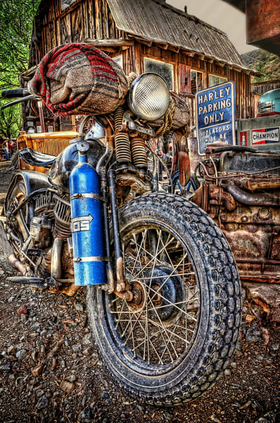 Harley Parking Photography Art | Ken Smith Gallery