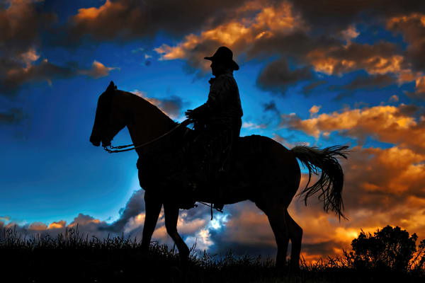 Cowboy Silhouette Photography Art | Ken Smith Gallery