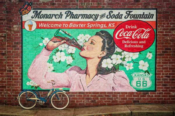 Monarch Pharmacy Coca Cola Girl Photography Art | Ken Smith Gallery